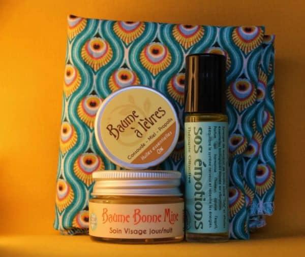 coffret cadeau soin global cosmetique symphytum avec furoshiki